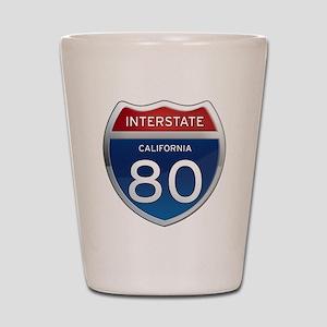 Interstate 80 - California Shot Glass