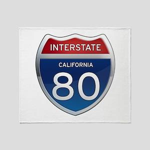 Interstate 80 - California Throw Blanket