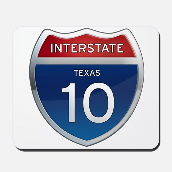 Interstate 10 - Texas Mousepad