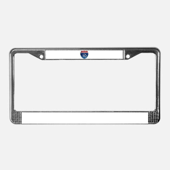 Interstate 10 - Texas License Plate Frame