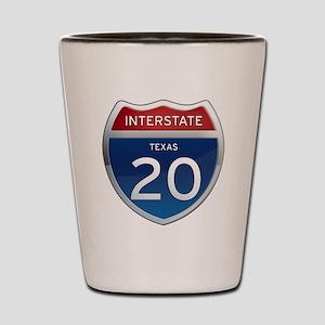 Interstate 20 - Texas Shot Glass