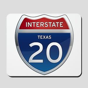 Interstate 20 - Texas Mousepad