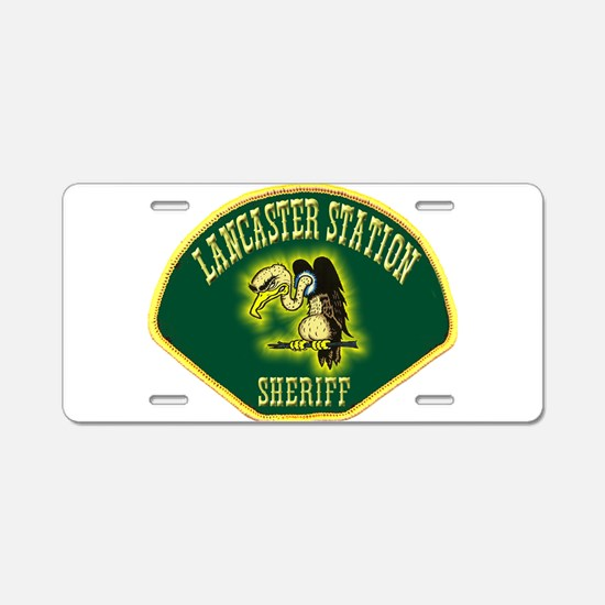 Lancaster Sheriff Station Aluminum License Plate