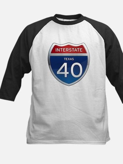 Interstate 40 - Texas Kids Baseball Jersey