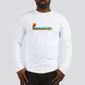 Wildwood NJ - Beach Design Long Sleeve T-Shirt