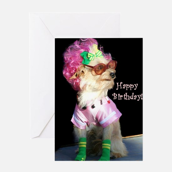 Happy Birthday Mix Dog Greeting Card