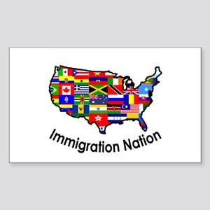 USA: Immigration Nation Rectangle Sticker