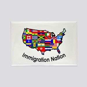 USA: Immigration Nation Rectangle Magnet