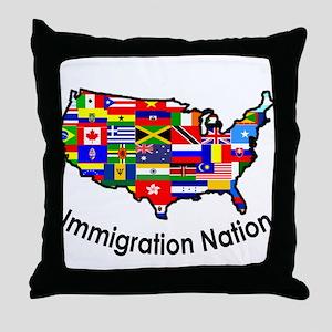 USA: Immigration Nation Throw Pillow