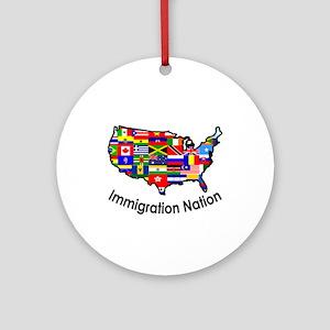 USA: Immigration Nation Ornament (Round)