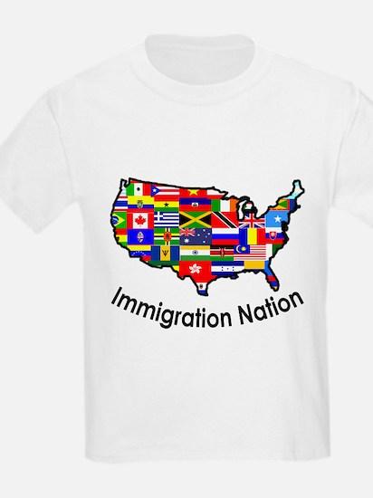 USA: Immigration Nation Kids T-Shirt
