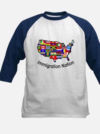 USA: Immigration Nation Kids Baseball Jersey