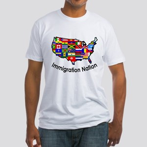 USA: Immigration Nation Fitted T-Shirt