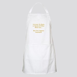 Battle Of Wits Apron