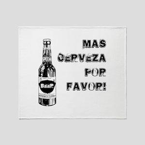 Mas Cerveza Throw Blanket