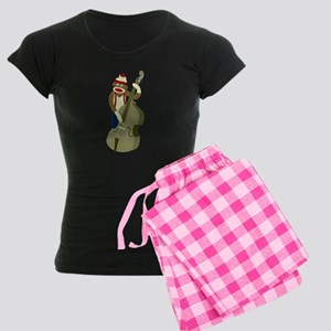 Sock Monkey Bass Player Women's Dark Pajamas