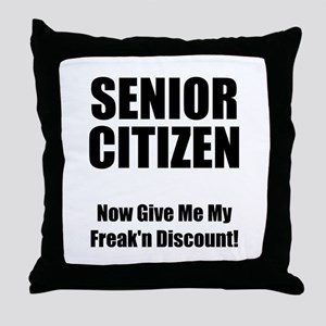 Senior Citizen Throw Pillow