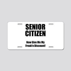 Senior Citizen Aluminum License Plate