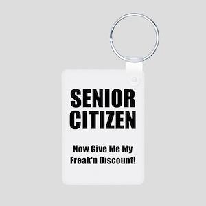 Senior Citizen Aluminum Photo Keychain