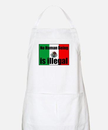 Human beings arent illegal BBQ Apron