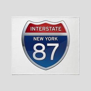 Interstate 87 - New York Throw Blanket