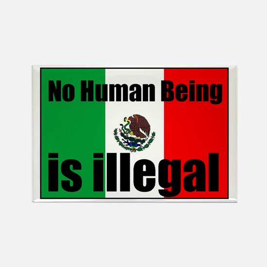 Human beings arent illegal Rectangle Magnet