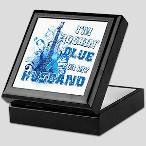 I'm Rockin' Blue for my Husband Keepsake Box
