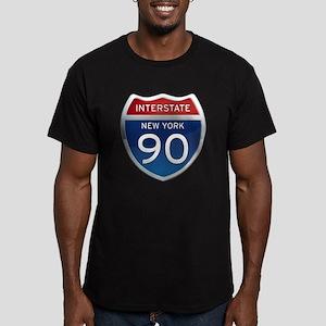 Interstate 90 - New York Men's Fitted T-Shirt (dar