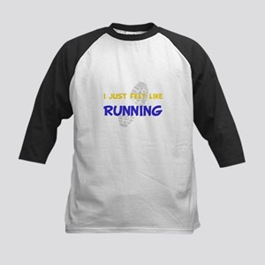 Felt Like Running Kids Baseball Jersey