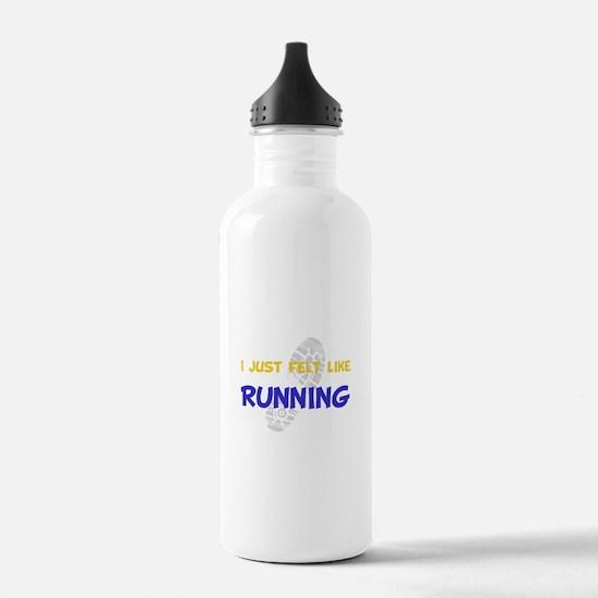 Felt Like Running Water Bottle