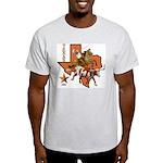 Texas Cowboy & Longhorn Ash Grey T-Shirt