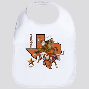 Texas Cowboy & Longhorn Bib