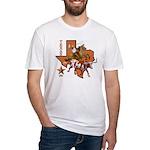 Texas Cowboy & Longhorn Fitted T-Shirt