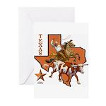 Texas Cowboy & Longhorn Greeting Cards (Package of