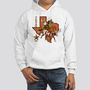 Texas Cowboy & Longhorn Hooded Sweatshirt