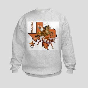 Texas Cowboy & Longhorn Kids Sweatshirt