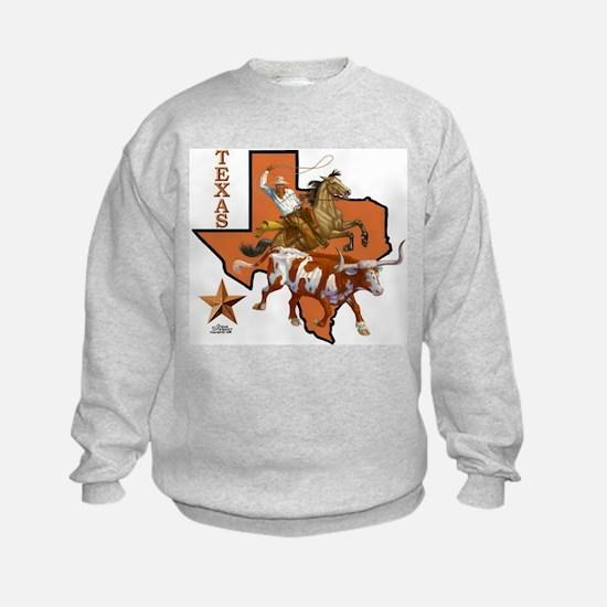 Texas Cowboy & Longhorn Sweatshirt