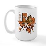 Texas Cowboy & Longhorn Large Mug