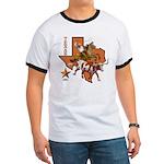 Texas Cowboy & Longhorn Ringer T