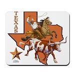 Texas Cowboy & Longhorn Mousepad