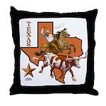 Texas Cowboy & Longhorn Throw Pillow