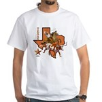 Texas Cowboy & Longhorn White T-Shirt