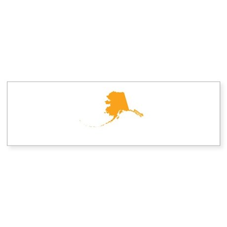 Orange Alaska Sticker (Bumper)