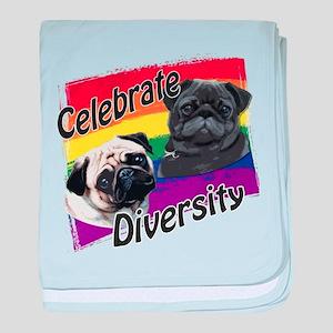 Celebrate Diversity Rainbow P baby blanket
