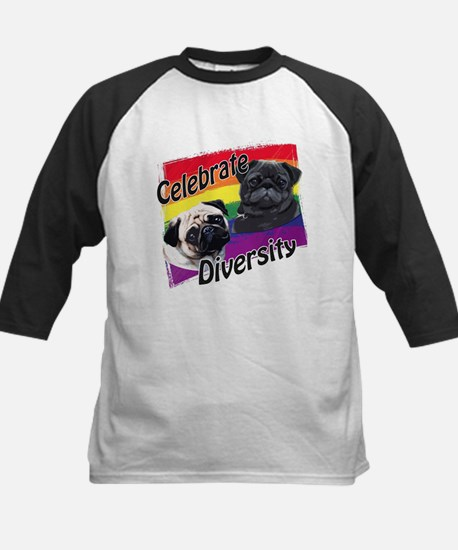 Celebrate Diversity Rainbow P Kids Baseball Jersey
