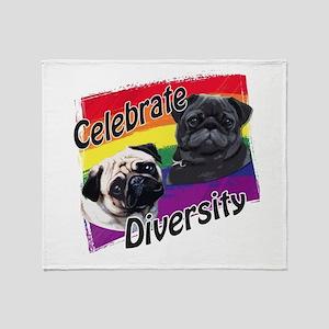 Celebrate Diversity Rainbow P Throw Blanket