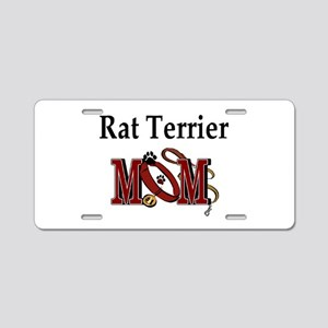 Rat Terrier Mom Aluminum License Plate