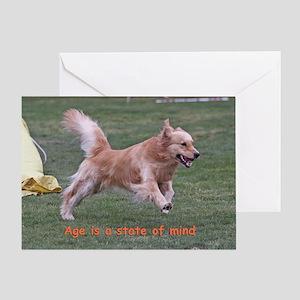 Golden Retriever Birthday Card 'Age'