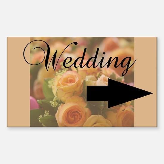 Cute Tangerine wedding Sticker (Rectangle)