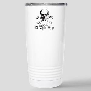 Captian Of This Ship Stainless Steel Travel Mug